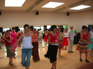 Photo de cours de salsa, Chatou 2000-2009